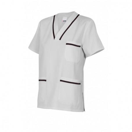 Camisa-pijama m.corta sanitaria-limpieza cuello pico barata Velilla B587