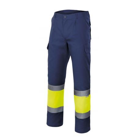 Pantalón de trabajo bicolor alta visibilidad Velilla 157