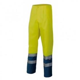 Pantalón de trabajo bicolor fluorescente multibolsillos Velilla 158