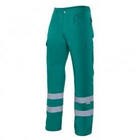 Pantalón de trabajo con cintas reflectantes multibolsillos Velilla 159