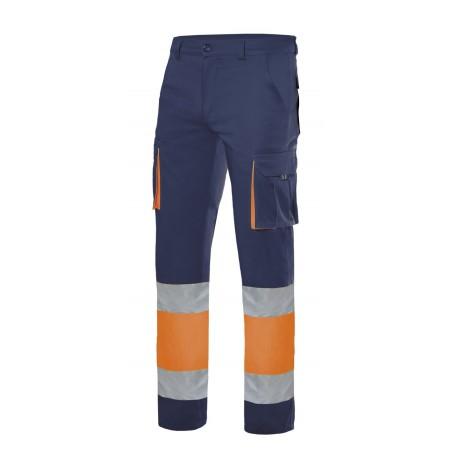 Pantalón elástico multibolsillos alta visibilidad Velilla 303002s