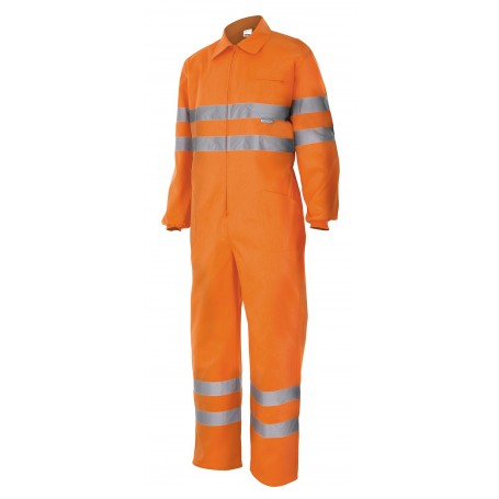Mono trabajo alta visibilidad Clase3 Velilla 150 amarillo-naranja