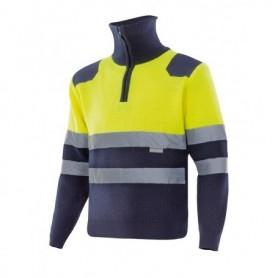 Jersey amarillo media cremallera alta visibilidad Velilla 301001