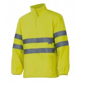 Forro polar amarillo alta visibilidad para el frío Velilla 180
