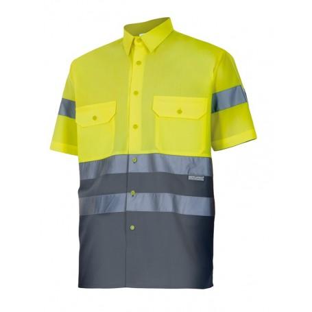 Camisa mangas cortas verano con cintas reflectantes Velilla 142