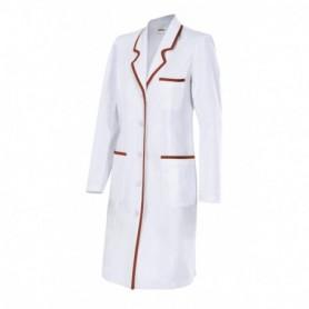 Bata blanca mujer sanitaria-enfermería-limpieza barata Velilla P539002