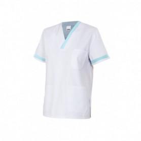 Camisa-pijama m.corta sanitaria-limpieza cuello pico barata Velilla P587