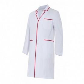 Bata blanca hombre sanitaria-enfermería m.larga barata Velilla P539001