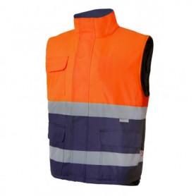Chaleco s-m acolchado bicolor alta visibilidad Velilla 305902