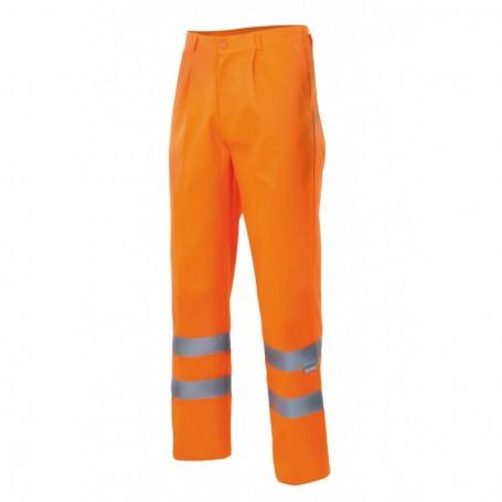 Pantalón cintas reflectantes forrado Velilla F160 amarillo-naranja