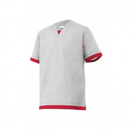 Camisa-pijama m.corta sanitaria-limpieza cuello pico barata Velilla M587
