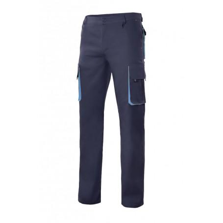 Pantalón trabajo reforzado bicolor multibolsillos Velilla 103004