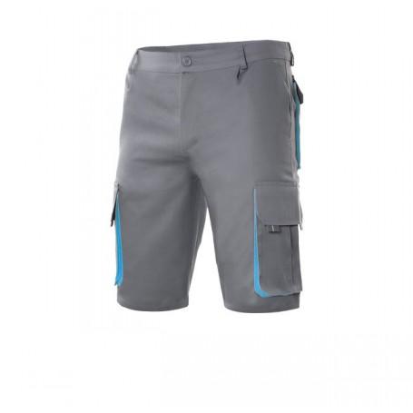 Bermuda-pantalon corto bicolor multibolsillos Velilla 103007