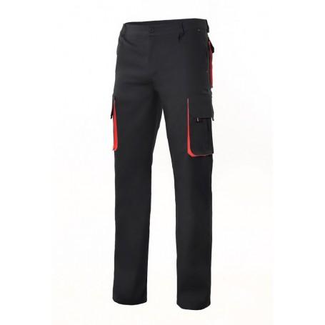 Pantalón laboral bicolor con bolsillos forrado Velilla F103004