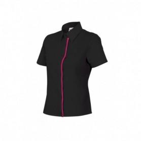 Camisa mujer entallada de manga corta para camareras Velilla P538