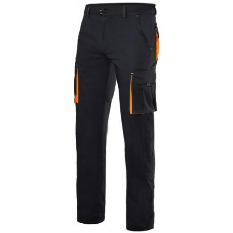 Pantalón stretch bicolor con bolsillos forrado Velilla F103006