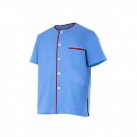 Camisa sanitaria manga corta con botones y bolsillo barata Velilla P599