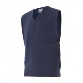 Chaleco-jersey de trabajo punto fino con cuello en pico Velilla 99