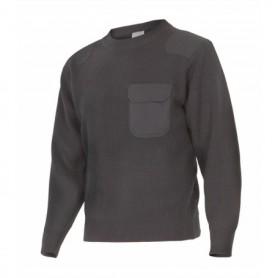 Jersey de trabajo punto grueso barato con cuello redondo Velilla 100