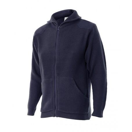 Jersey de trabajo punto grueso barato con cuello alto Velilla 102