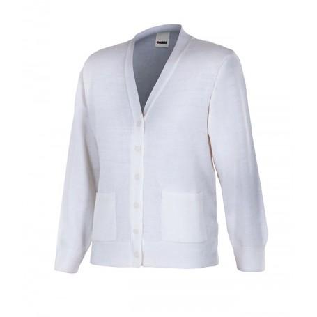 Chaqueta-jersey de trabajo mujer barata punto fino Velilla 103