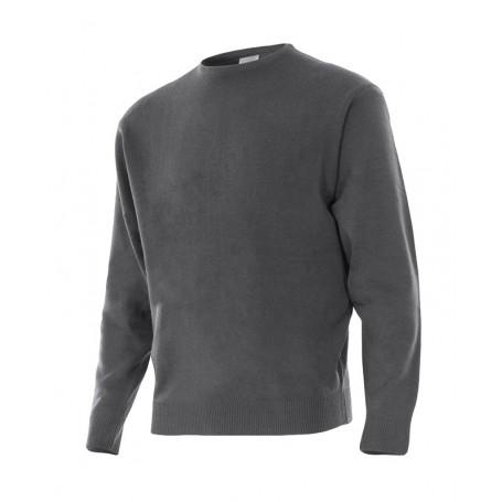 Jersey de trabajo barato en punto fino con cuello redondo Velilla 105