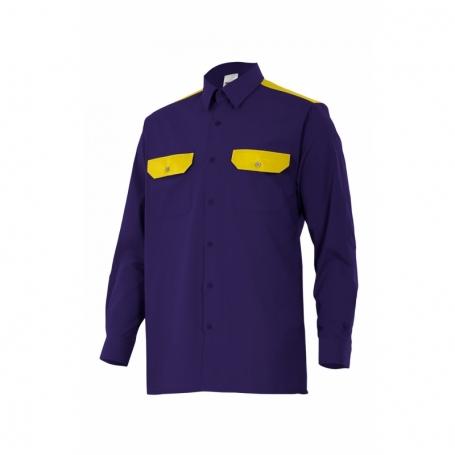 Blusa de trabajo manga larga con bolsillos Velilla CT520