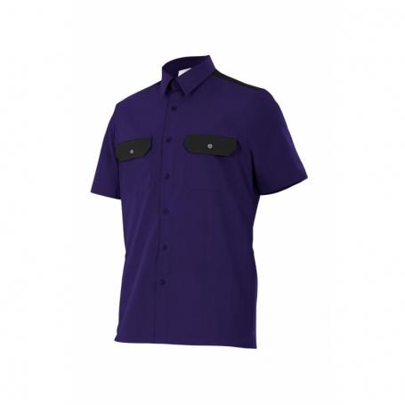 Camisa-Blusa laboral manga corta con bolsillos Velilla CT522