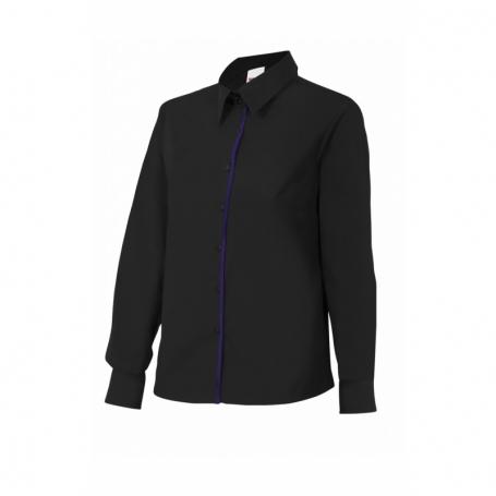 Camisa mujer entallada de manga larga para camareras Velilla P539