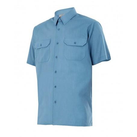 Camisa de trabajo manga corta con bolsillos Velilla para Hombre 521