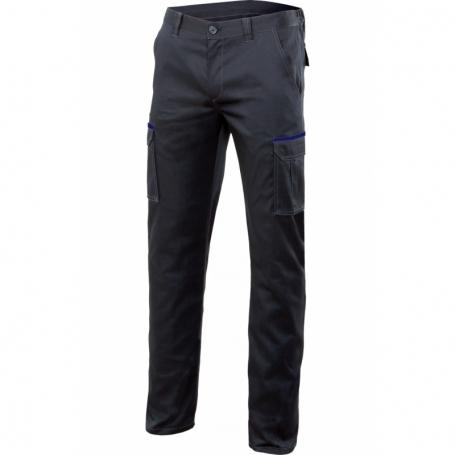 Pantalon laboral bicolor elástico multibolsillos Velilla P103002S