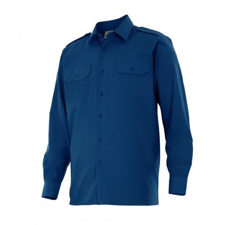 Blusa laboral con hombreras mangas largas Velilla para Hombre 530