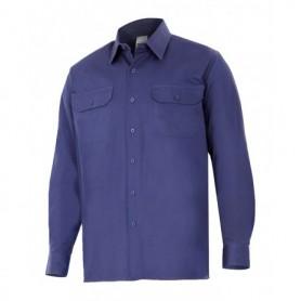 Camisa laboral 100% algodón manga larga con bolsillos Velilla 533