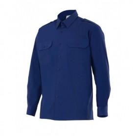 Camisa laboral 100% algodón manga larga con bolsillo Velilla 534