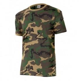 Camiseta en manga corta con estampado de camuflaje Velilla 506