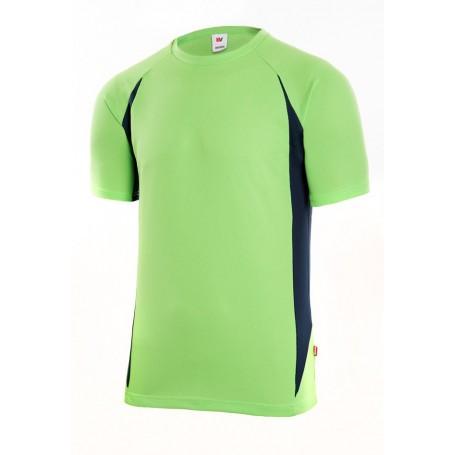 Camiseta técnica manga corta y cuello redondo barata Velilla 105501