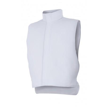 Chaleco blanco sin mangas acolchado-cámaras frigoríficas Velilla 255901