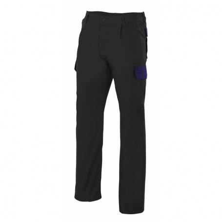 Pantalón para trabajar multibolsillos barato y bicolor Velilla PT345