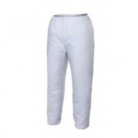 Pantalón acolchado blanco para cámaras frigoríficas-frío Velilla 253002