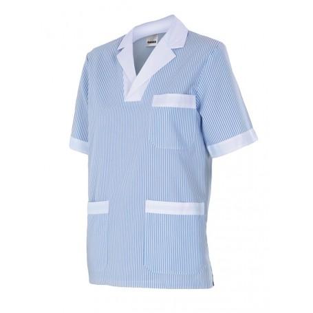 Camisola o camisa m-c sanitario-limpieza a rayas barato Velilla 585