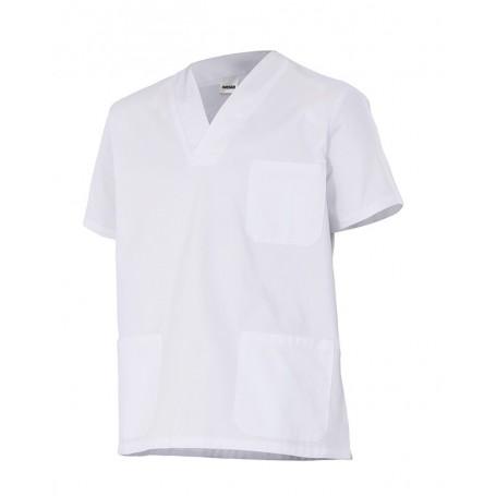 Camisa-pijama m.corta sanitaria-limpieza cuello pico barata Velilla 587