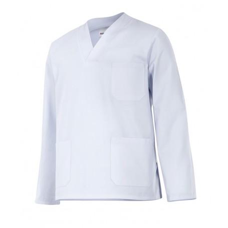 Camisa-pijama m.larga sanitaria-limpieza cuello pico barata Velilla 588