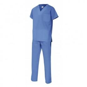 Pijama sanitario-limpieza blanco o celeste cómodo y barato Velilla 800