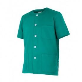 Camisa sanitaria manga corta con botones y bolsillo barata Velilla 599
