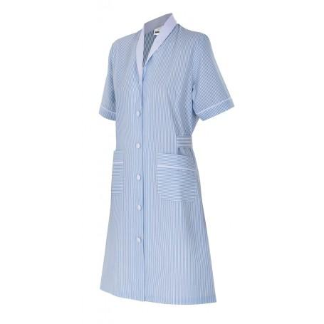 Bata sanitaria-limpieza manga corta rayas mujer manga corta Velilla 952