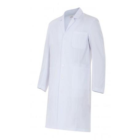 Bata blanca hombre sanitaria-enfermería m.larga barata Velilla 539001