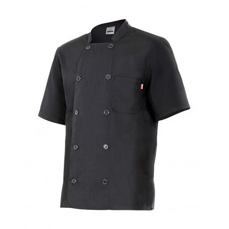 Chaqueta-Casaca de cocina manga corta con botones barata Velilla 432