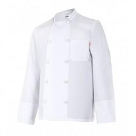 Chaqueta-Casaca de cocina manga larga con botones barata Velilla 433
