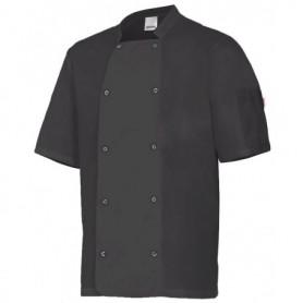 Chaqueta-Casaca de cocina manga corta con botone barata Velilla 405205
