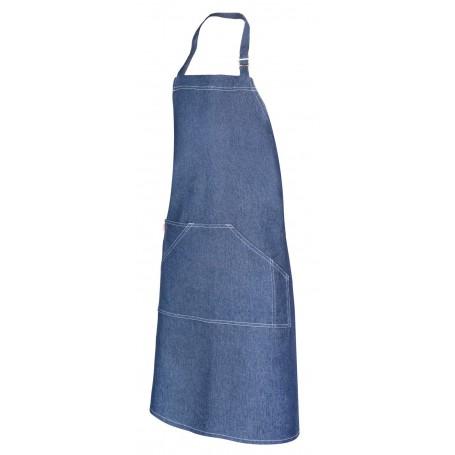Delantal largo denim hostelería y cocina con bolsillo Velilla 404207